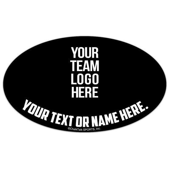Baseball Oval Car Magnet Your Logo
