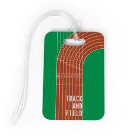 Track and Field Bag/Luggage Tag - Track and Field Lanes