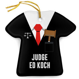 Personalized Porcelain Ornament - Judge Robes Shirt and Tie