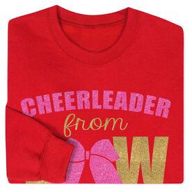 Cheerleading Crew Neck Sweatshirt - Cheerleader From Bow to Toe