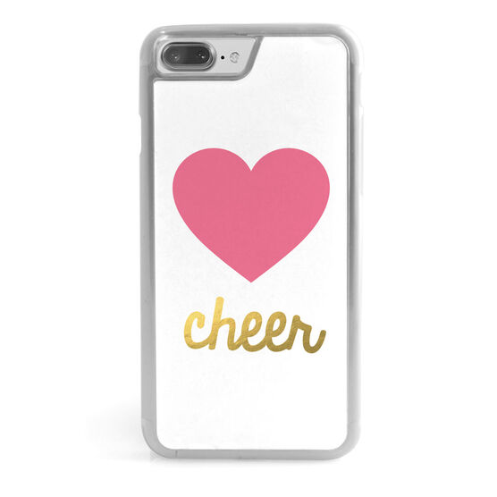 Cheerleading iPhone® Case - Heart with Gold Cheer