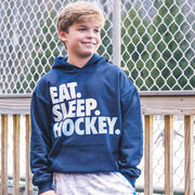 Hockey Hooded Sweatshirt - Eat. Sleep. Hockey.