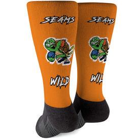 Seams Wild Football Printed Mid-Calf Socks - Slowyo