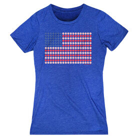 Baseball Women's Everyday Tee - Patriotic Baseball