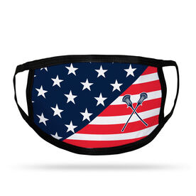 Guys Lacrosse Adult Face Mask - USA Flag
