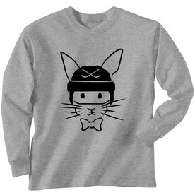 Hockey Tshirt Long Sleeve Hopster Hockey Bunny