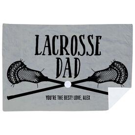 Guys Lacrosse Premium Blanket - Lacrosse Dad