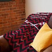 Crew Premium Blanket - Personalized Thanks Coach Chevron
