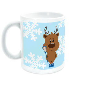 Girls Lacrosse Coffee Mug Reindeer Laxer