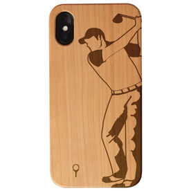 Golf Engraved Wood IPhone® Case - Golfer