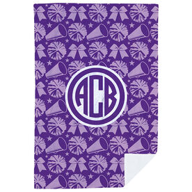 Cheerleading Premium Blanket - Bows & Megaphones with Monogram