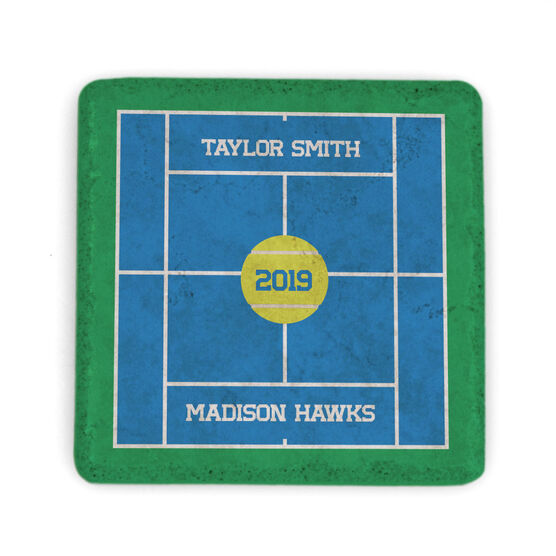 Tennis Stone Coaster - Personalized Team