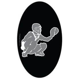 Baseball Oval Car Magnet Catcher