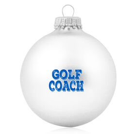 Golf Glass Ornament Golf Coach