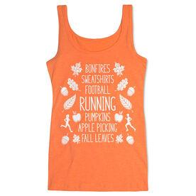 Running Women's Athletic Tank Top - Fall Running