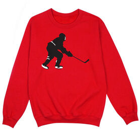 Hockey Crew Neck Sweatshirt - Hockey Player