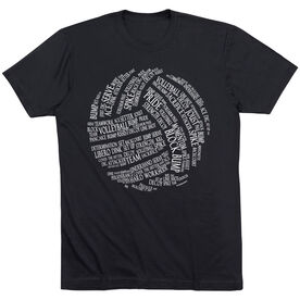 Volleyball T-Shirt Short Sleeve Volleyball Words