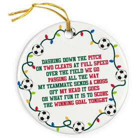 Soccer Porcelain Ornament Jingle All The Way
