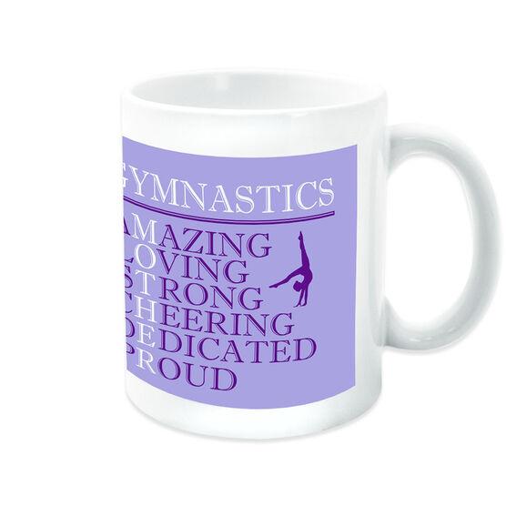 Gymnastics Coffee Mug - Mother Words (Girl Gymnast)
