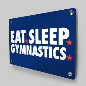 Gymnastics Metal Wall Art Panel - Eat Sleep Gymnastics