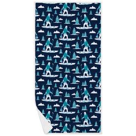 Hockey Premium Beach Towel - Hockey Yeti Pattern