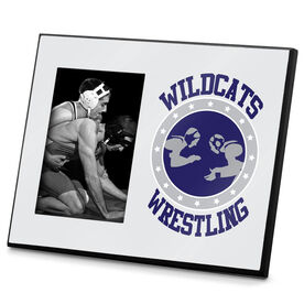 Wrestling Photo Frame Personalized Wrestling Crest