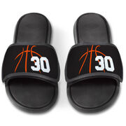 Basketball Repwell® Slide Sandals - Basketball Lines with Number