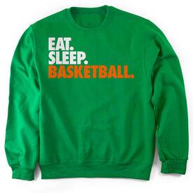 Basketball Crew Neck Sweatshirt Eat. Sleep. Basketball.
