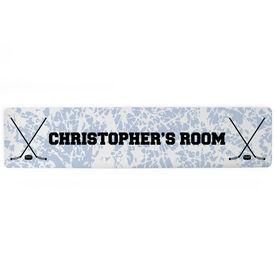 """Hockey Aluminum Room Sign - Your Room Hockey (4""""x18"""")"""