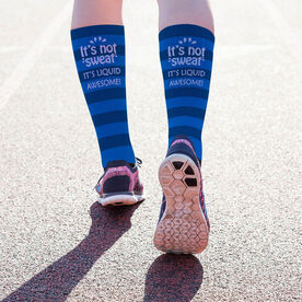 Running Printed Mid-Calf Socks - It's Not Sweat