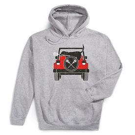 Guys Lacrosse Hooded Sweatshirt - Chillax Cruiser