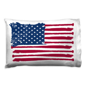 Baseball Pillowcase - American Flag