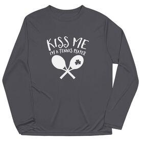 Tennis Long Sleeve Performance Tee - Kiss Me I'm A Tennis Player