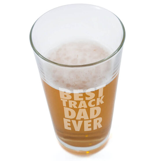 16 oz. Beer Pint Glass Best Track Dad Ever