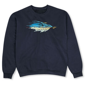 Fly Fishing Crew Neck Sweatshirt - Fly Fishing Clouser