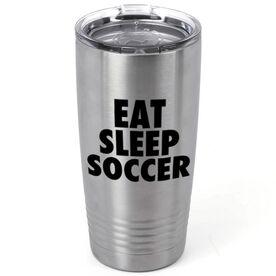 Soccer 20 oz. Double Insulated Tumbler - Eat Sleep Soccer