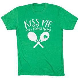Tennis Tshirt Short Sleeve Kiss Me I'm A Tennis Player