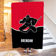 Hockey Premium Blanket - Personalized Goalie with Team Colors