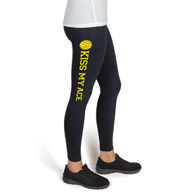 Volleyball High Print Leggings Kiss My Ace