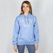 Girls Lacrosse Hooded Sweatshirt - Lacrosse Vibes