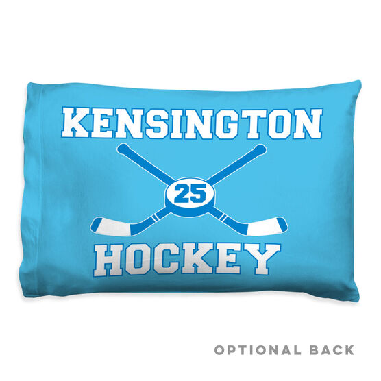Hockey Pillowcase - Personalized Sticks And Puck
