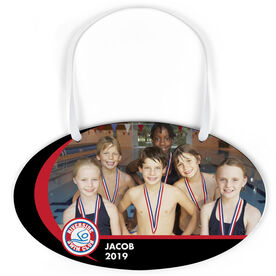 Swimming Oval Sign - Team Photo and Logo