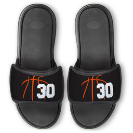 Basketball Repwell™ Slide Sandals - Basketball Lines with Number