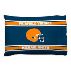 Football Pillowcase - Personalized Helmet