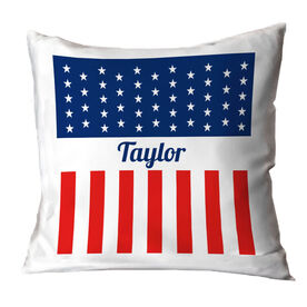 Personalized Throw Pillow - A Flag For You
