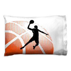 Basketball Pillowcase - Halftone Sunrise