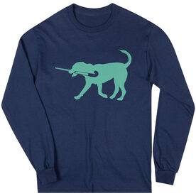 Field Hockey Tshirt Long Sleeve Flick The Field Hockey Dog
