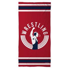 Wrestling Beach Towel Winners Never Quit