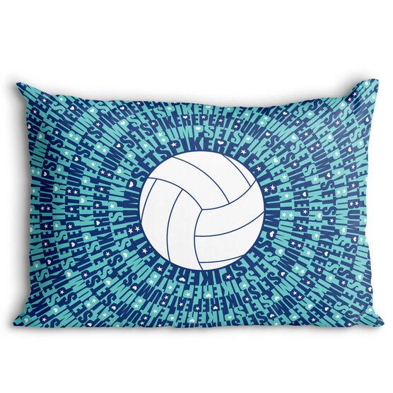 Volleyball Pillowcase - Bump Set Spike Repeat