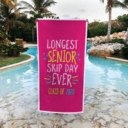 Premium Beach Towel - Longest Senior Skip Day Ever Class Of 2020